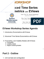 Workshop 4 - Part 2 - Advanced Time Series Econometrics With EViews