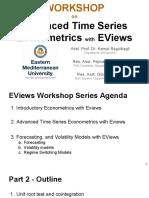 Workshop 4 - Part 2 - Advanced Time Series Econometrics With EViews