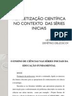 ALFABETIZAÇÃO CIENTÍFICA - apresentação