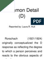 Common Detail Rorschach Interpretation