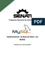 Implementación de Base de Datos Con MySQL - SENATI