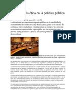 La Moral y La Ética en La Política Pública