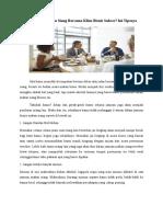 Ingin Agar Makan Siang Bersama Klien Bisnis Sukses