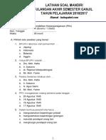 Latihan Soal UAS PKN Kelas 6