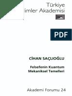 Cihan Saçlıoğlu - Felsefenin Kuantum Mekaniksel Temelleri