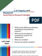 quantitative research designs