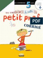 Problemes Math Petit Prof Corrige 5e (1)