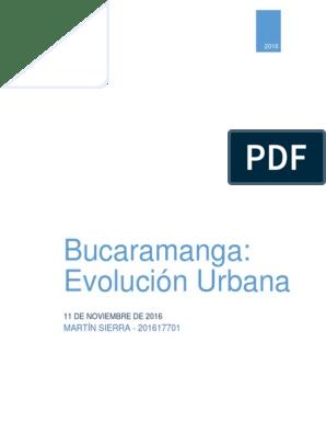 Bucaramanga Evolucion Urbana Colombia Science