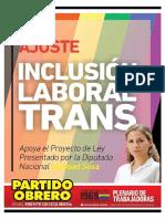 Proyecto de Ley de Inclusión Laboral Trans