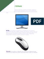 partes internas y externas de la computadora