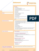 Dutch Anal Incontinence Physiotherapy Flowchart