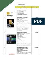 MATRIX PRICE LIST 2013 - GAS DETECTOR.pdf