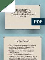Differentiated Instructional (Pengajaran Kepelbagaian Pelajar)