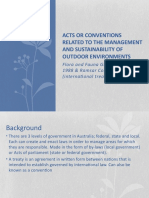 acts or conventions related to the management and