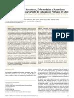 Factores Asociados a Accidentes, Enfermedades y Ausentismo Laboral. Análisis de Una Cohorte de Trabajadores Formales en Chile
