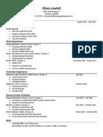 olivia resume