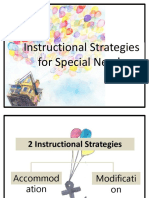 Instructional Strategies for Special Needs