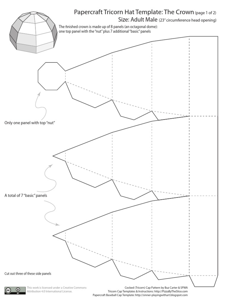 Best Tricorn Hat Template Pictures >> Diy Pirate Tricorn Hat Youtube ...