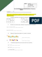 Prueba ADAPTADA de Patrones y Algebra