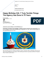 Happy Birthday CIA_ 7 Truly Terrible Things the Agency Has Done in 70 Years