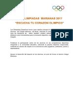 Viii Olimpiadas Marianas 2017
