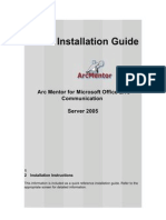 ArcMentor Installation Guide for Microsoft Office LCS 2005 New