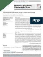 Epidemiologia Hepatitis E España