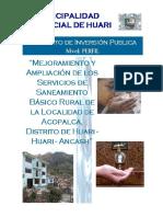 PIP Saneamiento Acopalca- Impreso Enviado a Huari