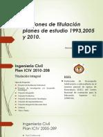 Opciones de Titulación Planes de Estudio 1993,2005 y
