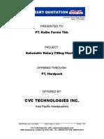 CVC 1000-L Automatic Rotary Filling Machine - Q11-0099 REV