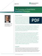 The Evolution of Quantitative Investment Strategies