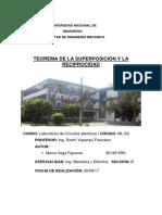 Informe Teorema de La Superposición y La Reciprocidad.