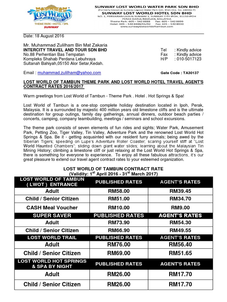 INTERCITY TRAVEL AND TOUR SDN BHD pdf | Workweek And Weekend
