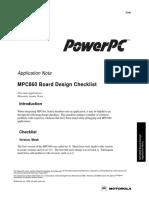 MPC860 Board Design Checklist