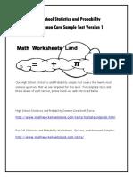 Higher Secondary Statistics Sample Questions
