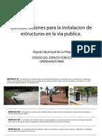 Consideraciones para la instalación de estructuras en la vía publica en La Plata