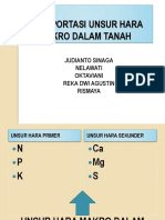 Tansportasi Unsur Hara Makro Dalam Tanah (2)