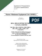 FAA MMEL BHT-206-407 (Rev. 4, 07-Sep-16) - To Include Garmin GTN 650