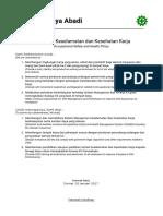 1. a Kebijakan Keselamatan Dan Kesehatan Kerja (K3) - Copy