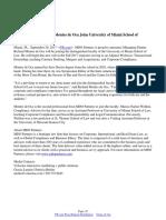 MDO Partners' Richard Montes de Oca Joins University of Miami School of Law Faculty