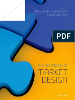 The Handbook of Market Design