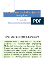 Final Year Mechanical Projects in Bangalore ( http://www.modainnovations.com)