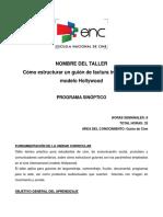 FORMATO PROGRAMA TALLER Guión de Factura Internacional Modelo Hollywood