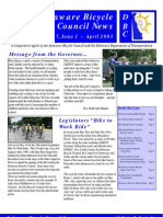 April 2003 Delaware Bicycle Council Newsletter