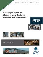 1230 Passenger Flows in Underground Railways Stations Platform