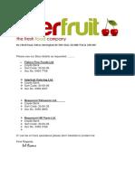Interfruit Bank Details