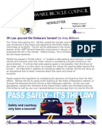 September 2009 Delaware Bicycle Council Newsletter