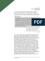 Serpil Oppermann - Toward an Ecocentric Postmoderm Theory Fusing Deep Ecology and Quantum Mechanics