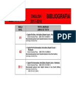 ENGLISH Bibliografia 2017-2018