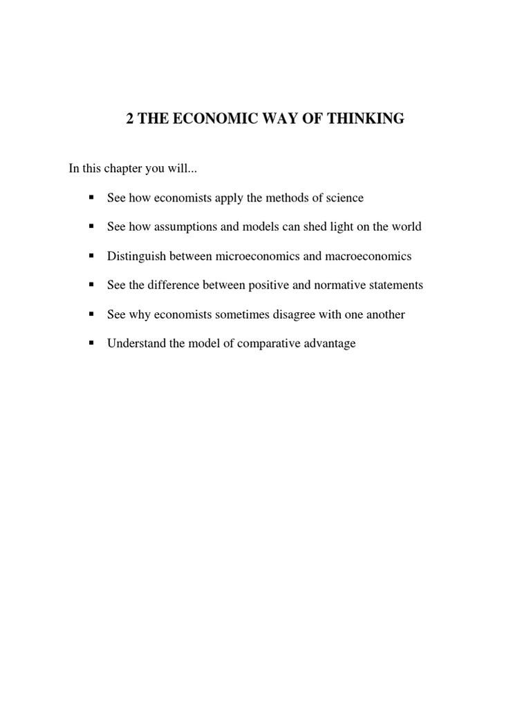 Economic the way of thinking microeconomics economics ccuart Image collections